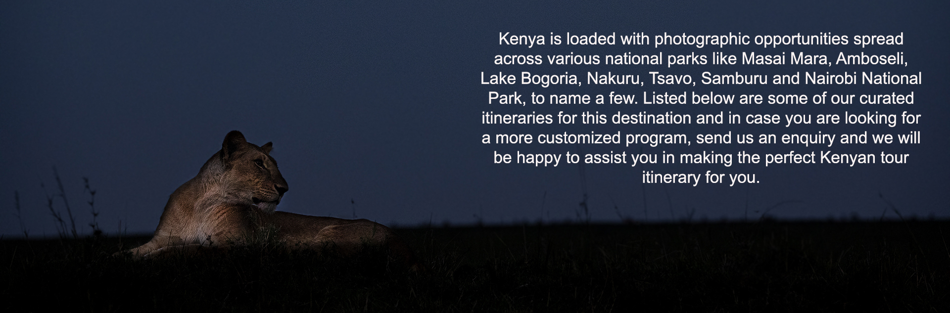 custom kenya itineraries